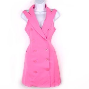 Yumi Kim Lucy Vest Pink Button Dress NWT
